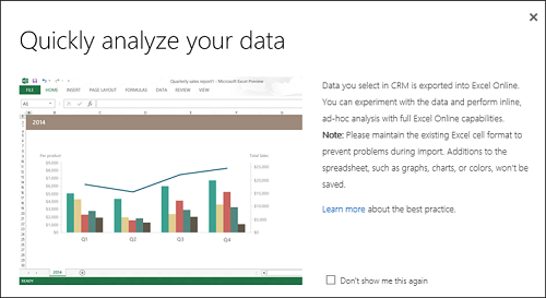 Analyse data in Excel