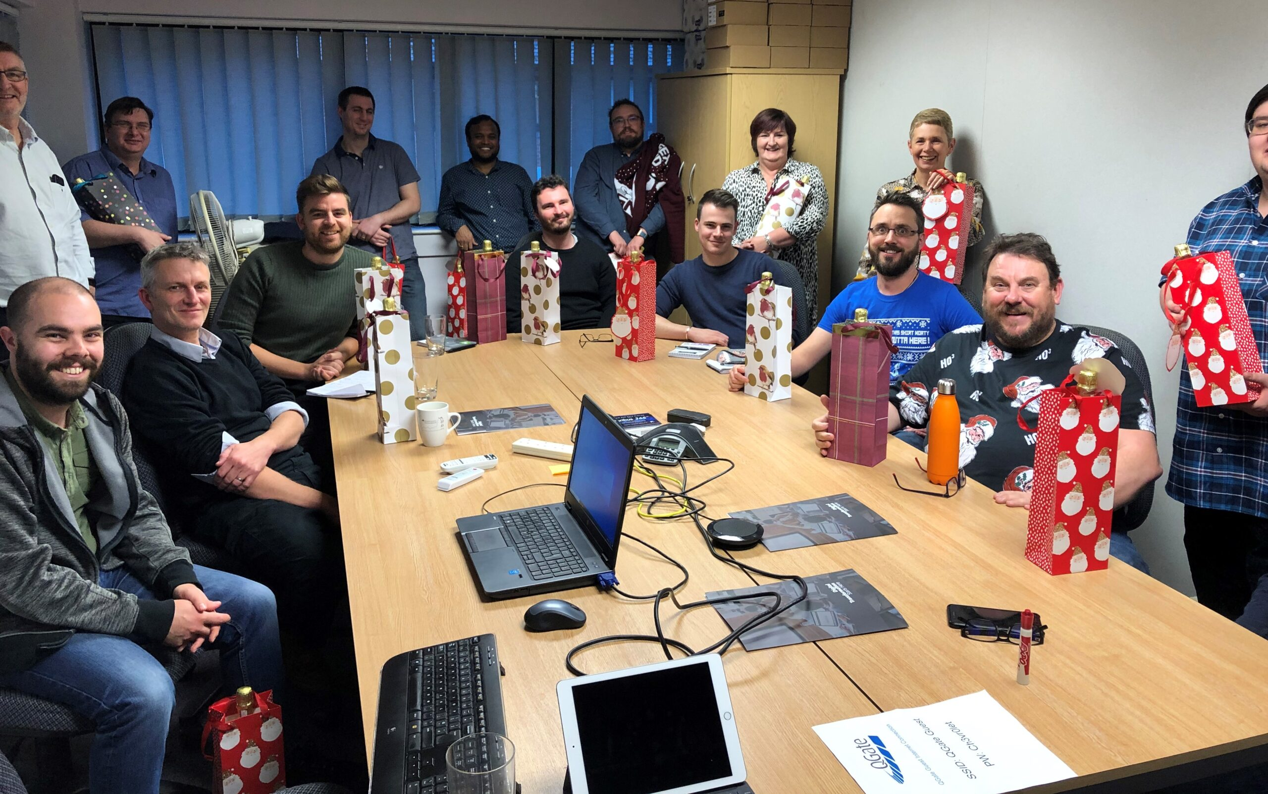 Our staff celebrating Christmas 2019