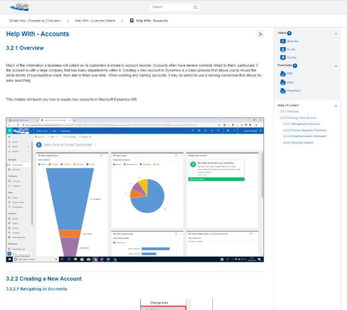 ClickLearn Embedded Learning Portal
