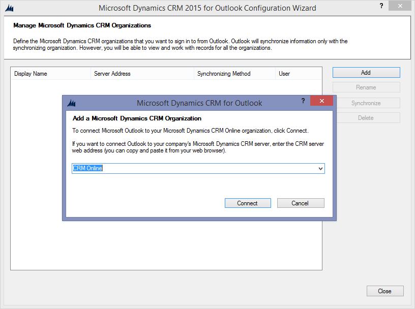 Run the Microsoft Dynamics CRM 2015 Configuration Wizard