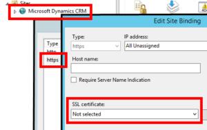IIS Select Certificate