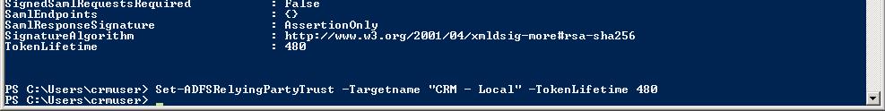 PowerShell ADFS TokenLifetime