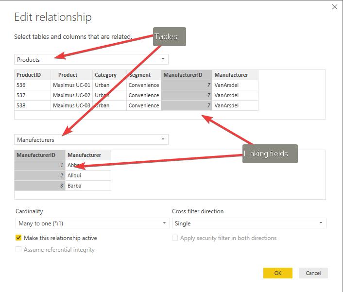 Power BI Data Modelling Screenshot