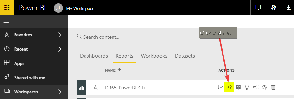 Publish Docs to Power BI Service - Sharing