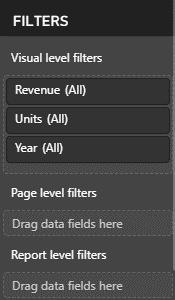 Power BI Visualizations Filters