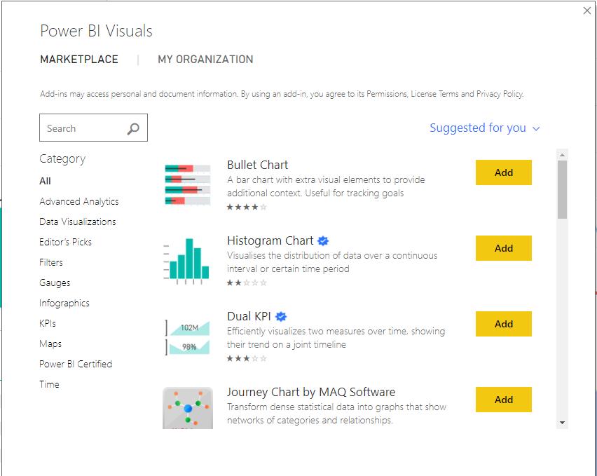 Power BI Visualizations Marketplace