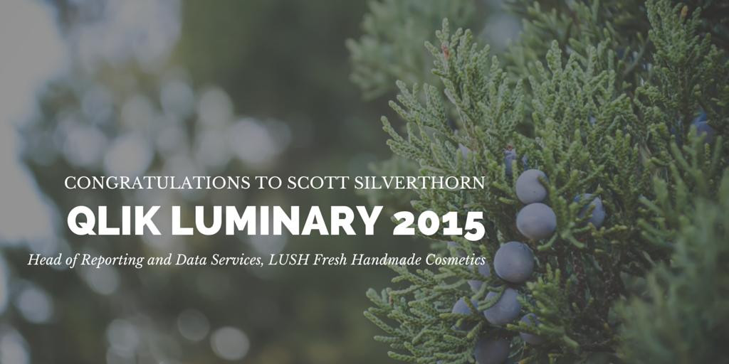 Congratulations Scott Silverthorn - Qlik Luminary