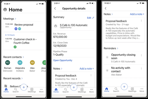 MS Dynamics Sales Mobile App