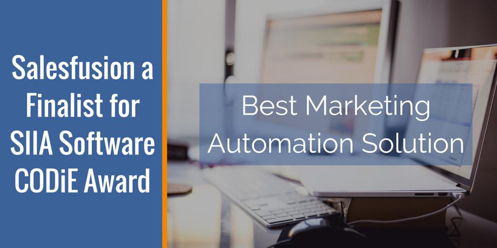 Salesfusion Best Marketing Automation Platform Finalist