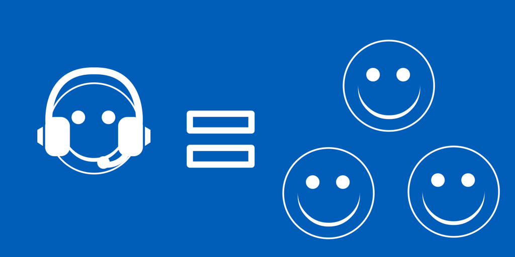 Agent happiness affects customer satisfaction