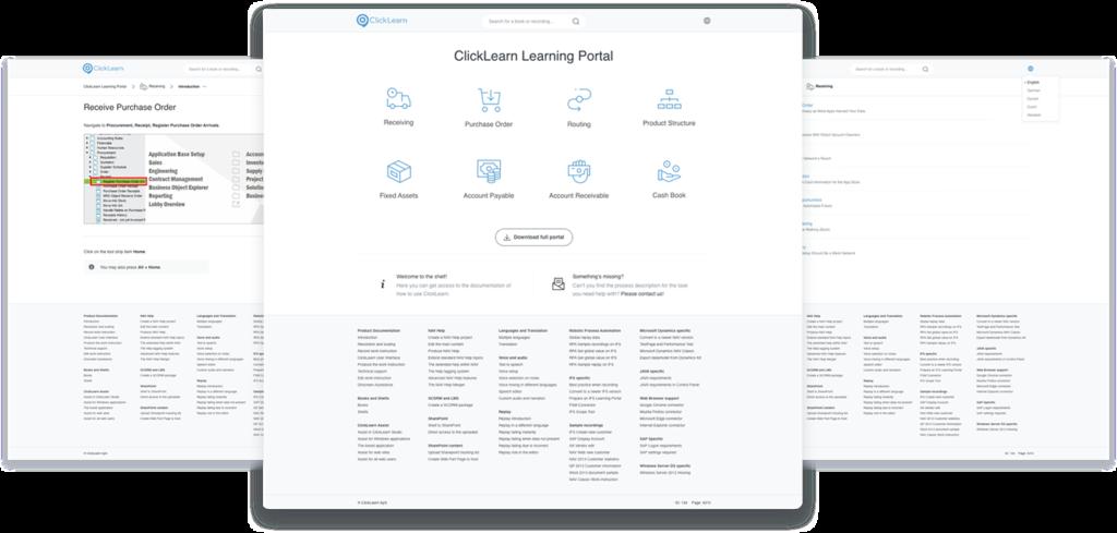 click learn screen