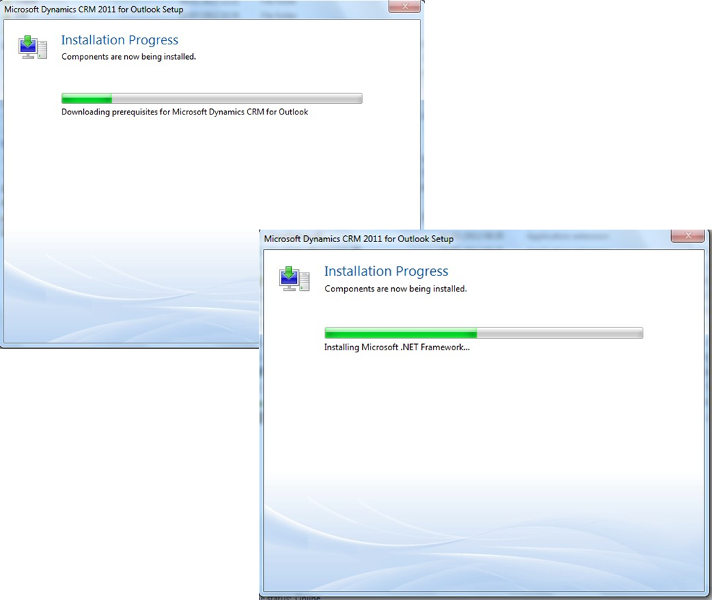 Installing Microsoft Dynamics CRM 2011 with Microsoft Outlook