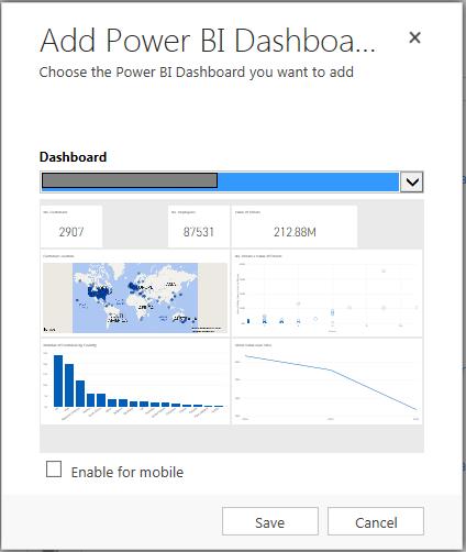 Power BI Add Dashboard