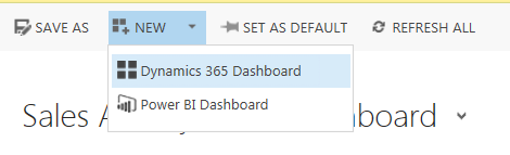 Power BI new dashboard