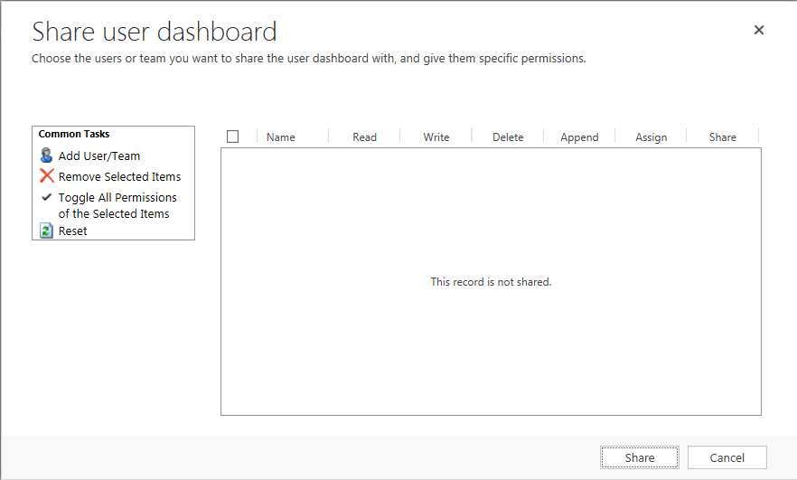 Power BI Share User dashboard