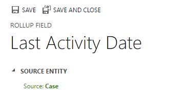Last activity date