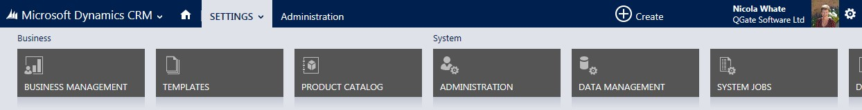 Select Settings, then the Auditing Tile in Microsoft Dynamics CRM