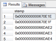 8 byte binary value